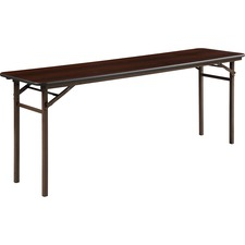 LLR 60727 Lorell Mahogany Folding Banquet Table LLR60727
