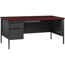 LLR60919 - Lorell Fortress Series Left-Pedestal Desk