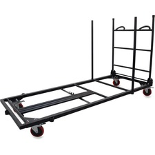 """Lorell Blow Mold Rectangular Table Trolley Cart - Steel - 30"""" Width x 45.3"""" Depth x 75.9"""" Height - Charcoal - For 20 Devices"""