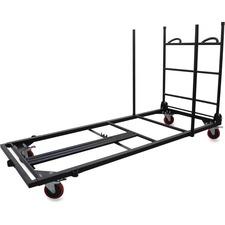 LLR65956 - Lorell Blow Mold Rectangular Table Trolley Cart
