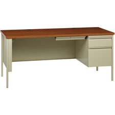 LLR66904 - Lorell Fortress Series Right-Pedestal Desk