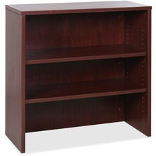 """Lorell Essentials Mahogany Laminate Stack-on Bookshelf - 36"""" x 15"""" x 36"""" - 2 x Shelf(ves) - Stackable - Mahogany, Laminate - MFC, Polyvinyl Chloride (PVC) - Assembly Required"""
