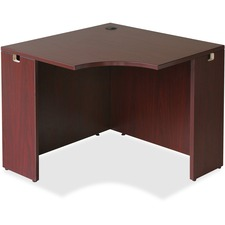 LLR69872 - Lorell Essentials Series Mahogany Corner Desk