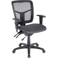 LLR 86904 Lorell Mid-back Swivel Mesh Chair LLR86904