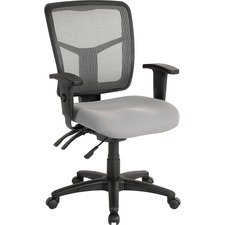 LLR 86909 Lorell Swivel Mid-back Chair LLR86909