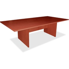 """Lorell Essentials Series Cherry Conference Table - Cherry Rectangle, Laminated Top - Panel Leg Base - 2 Legs - 70.9"""" Table Top Width x 35.4"""" Table Top Depth x 1.3"""" Table Top Thickness - 29.5"""" Height - Assembly Required - Cherry"""