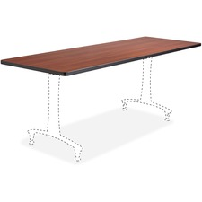 SAF 2088CY Safco Rumba Training Table Cherry Tabletop SAF2088CY