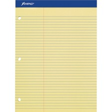 TOP 20245 Tops Perforated 3HP Ruled Double Sheet Pads TOP20245