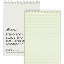 TOP 25275 Tops Ampad Kraft Cover Pittman Ruled Steno Book TOP25275