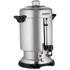 Hamilton Beach 60 Cup Stainless Steel Coffee Urn D50065C - 60 Cup(s) - Multi-serve - Stainless Steel - Stainless Steel, Glass