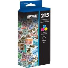 Epson DURABrite Ultra T215 Original Ink Cartridge - Combo Pack - Black, Color - Inkjet - Standard Yield - 1 Each