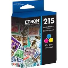 Epson DURABrite Ultra T215 Original Ink Cartridge - Inkjet - Standard Yield - Cyan, Magenta, Yellow - 1 Each
