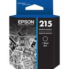 Epson 215 Original Ink Cartridge - Black - Inkjet - 215 Pages