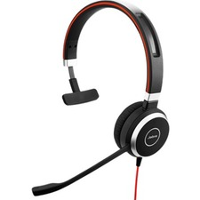 Jabra Evolve 40 Microsoft Lync Mono - Mono - USB, Mini-phone (3.5mm) - Wired - Over-the-head - Monaural - Supra-aural - Noise Cancelling Microphone - Noise Canceling