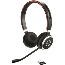 Jabra Evolve 65 UC Stereo - Stereo - USB - Wireless - Bluetooth - 98.4 ft - Over-the-head - Binaural - Supra-aural - Noise Cancelling, Noise Reduction Microphone - Noise Canceling