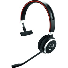 Jabra Evolve 65 UC Mono - Mono - USB - Wireless - Bluetooth - 98.4 ft - Over-the-head - Monaural - Supra-aural - Noise Cancelling, Noise Reduction Microphone - Noise Canceling