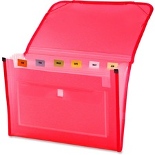 LIO94600PKBX - Lion CLEAR-LINE INSTA-COVER 7-Pocket Poly Expanding File, Transparent Pink