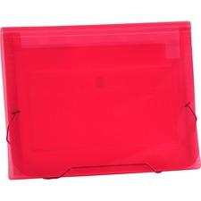 LIO94500PKBX - Lion CLEAR-LINE 7-Pocket Poly Expanding File, Transparent Pink