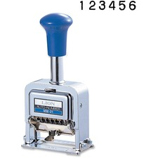LIOMM21SP - Lion Pro Line Heavy-Duty Rubber faced Wheel Automatic Numbering Machine, 6-wheel