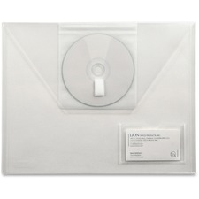 LIO22110CRBX - Lion DESIGN-R-LINE Poly Presentation Envelope with CD Pocket, Letter, Clear