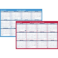 AAGPM200S28 - At-A-Glance Erasable/Reversible Yearly Wall Planner
