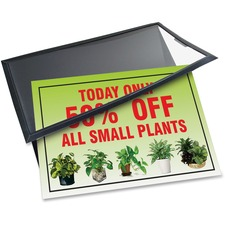 "Artistic Ad-Mat Sign/Signature Pad - Rectangle - 11"" (279.40 mm) Width x 8.50"" (215.90 mm) Depth - 2 Sheets - Polypropylene - Polypropylene, Polyurethane - Black, Clear"