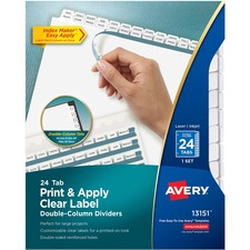AVE13151 - Avery® Index Maker Print & Apply Clear Label Double Column Dividers
