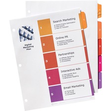 AVE13154 - Avery&reg Ready Index Customizable Table of Contents Dividers with Sub-Dividing Tabs
