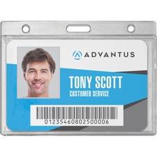 AVT 76075 Advantus Frosted Horizontal Rigid ID Holder AVT76075