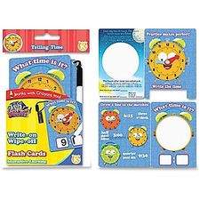 BDU 99117 Board Dudes Telling Time Flash Cards BDU99117