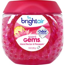 Bright Air Scent Gems Odor Eliminator - Beads - 283.5 g - Island Nectar, Pineapple - 45 Day