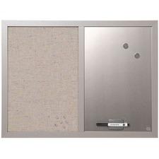 BVC MX04331608 Bi-silque Gray Frame Combo Bulletin Board BVCMX04331608