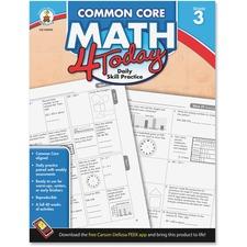 CDP 104592 Carson Grade 3 Common Core Math 4 Today Workbook CDP104592