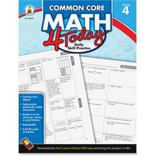 Carson-Dellosa Common Core Math 4 Today Grade-4 Workbook Education Printed Book for Mathematics - English