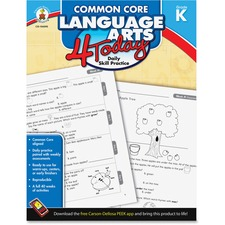 CDP 104595 Carson Gr K Common Core Lang. Arts 4 Today Workbk CDP104595