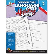 CDP 104597 Carson Grade 2 Common Core Language Arts Workbook CDP104597
