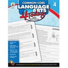 CDP 104599 Carson Grade 4 Common Core Language Arts Workbook CDP104599