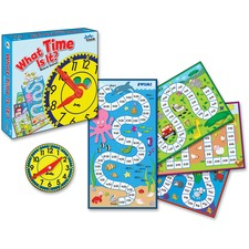 CDP 140314 Carson Grades K-3 What Time Is It Board Game CDP140314