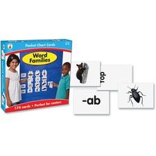 CDP 158152 Carson Gr K-2 Word Families Pocket Chart Cards Set CDP158152