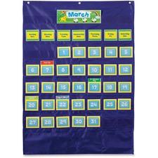 CDP 158156 Carson Grade PreK-5 Deluxe Calendar Pocket Chart CDP158156
