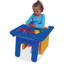 "Childrens Factory Cube Chair Edutray - Rectangle - 26"" x 21.13"" x 16.4"" - Plastic - Blue"