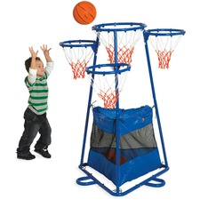 Children's Factory 4-ring Storage Basketball Stand