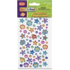 CKC 168506 Chenille Kraft Peel/Stick Flower/Stars Gemstones CKC168506