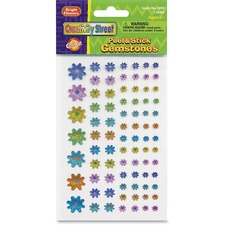 CKC 169506 Chenille Kraft Peel/Stick Flower-shaped Gemstones CKC169506