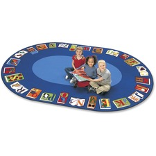 CPT 2695 Carpets for Kids Reading By The Book Oval Area Rug CPT2695