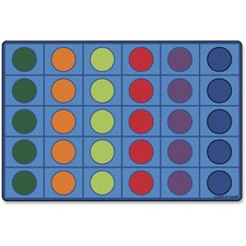 CPT 4218 Carpets for Kids Color Seating Circles Rug CPT4218