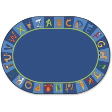 CPT5506 - Carpets for Kids A to Z Animals Oval Area Rug