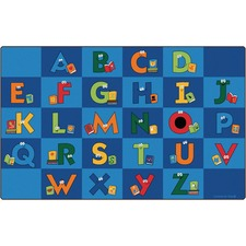 """Carpets for Kids Reading Letters Library Rug - 12 ft x 90"""" - Rectangle"""