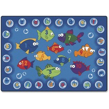 """Carpets for Kids Fishing 4 Literacy Rectangle Rug - 65"""" x 46"""" - Rectangle"""