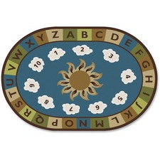 CPT 94706 Carpets for Kids Sunny Day Learn/Play Oval Rug CPT94706